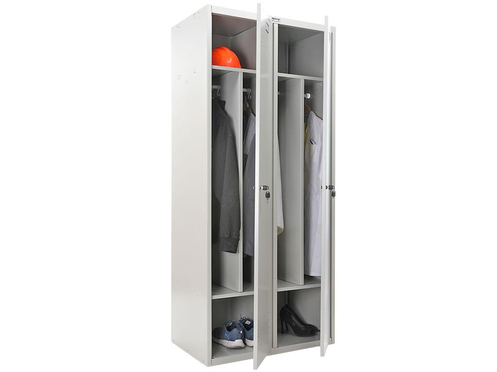 Шкаф для раздевалки ПРАКТИК СТАНДАРТ LS-21-80D (1830x813x500)