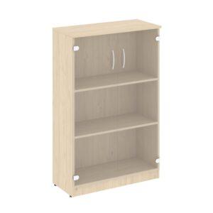 Шкаф средний широкий (2 средние двери стекло) В.СТ-2.4 (770х360х1203)