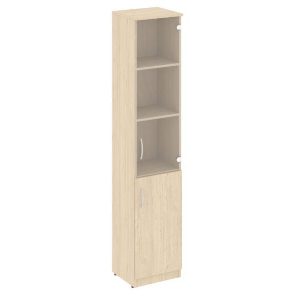 Шкаф высокий узкий (1 низкая дверь ЛДСП, 1 средняя дверь стекло) В.СУ-1.2 (388х360х1915)