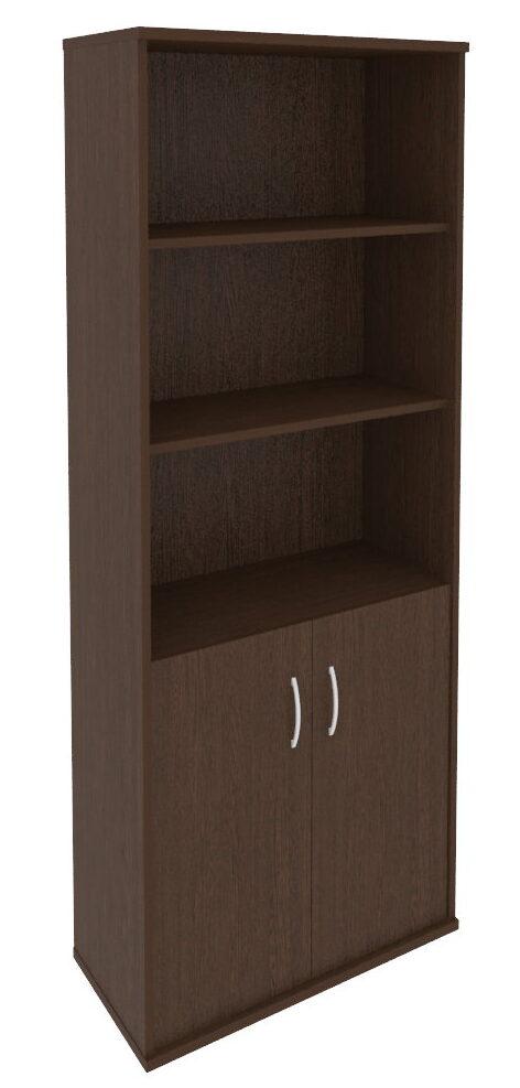 Шкаф высокий широкий (2 низкие двери ЛДСП) (770х365х1980)