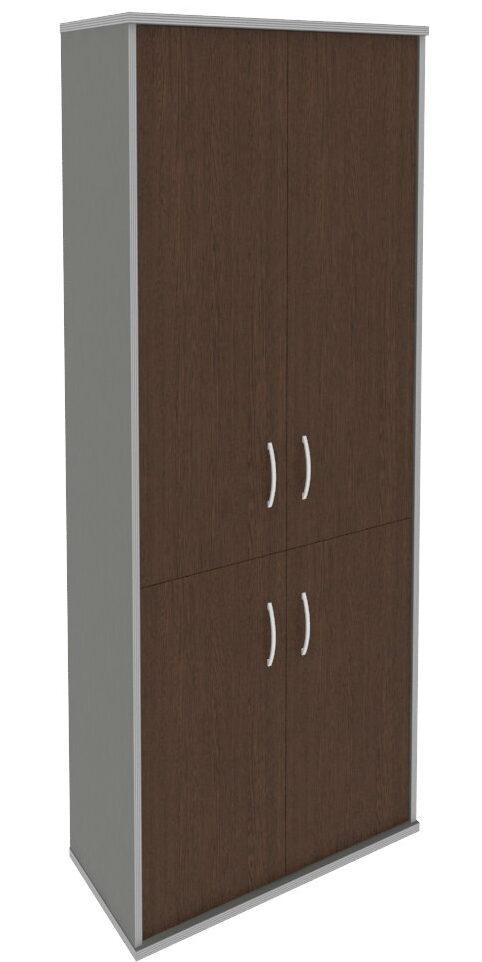 Шкаф высокий широкий (2 низкие двери ЛДСП, 2 средние двери ЛДСП) А.СТ-1.3 (770х365х1980)