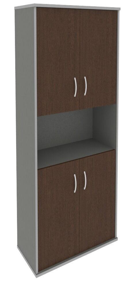 Шкаф высокий широкий (4 низкие двери ЛДСП) А.СТ-1.5(770х365х1980)