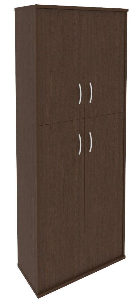 Шкаф высокий широкий (2 средние двери ЛДСП, 2 низкие двери ЛДСП) А.СТ-1.8 (770х365х1980)