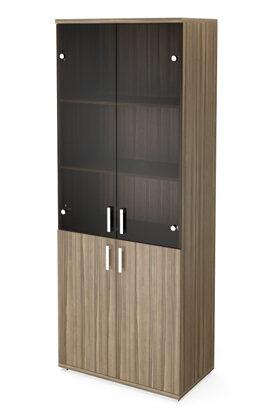 Стеллаж высокий широкий НТ-580 с дверьми НТ-600.2 и НТ-601.2 (800х445х2050)