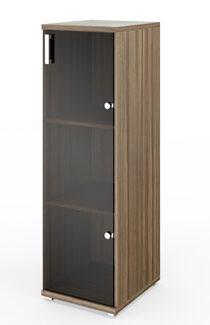 Стеллаж средний узкий НТ-440 с дверью НТ-601 (400х445х1280)
