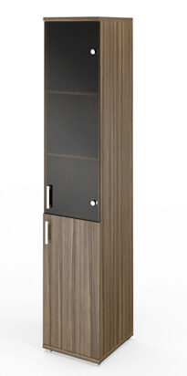 Стеллаж высокий узкий НТ-540 с дверью НТ-602 (400х445х2050)